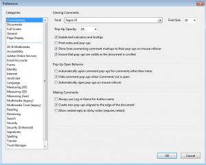 PDF Settings - 1 Commenting