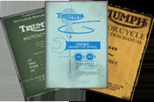 Triumph Motorcycle Manuals 1940 - 1950