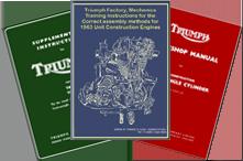 Triumph Motorcycle Manuals 1950 - 1960